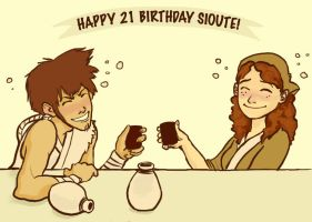 Happy Birthday Sioute by DoodleBuggy