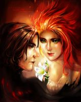 Bonfire - Snape x Lily by sweetcrescent