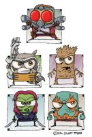 Guardians Of The Galaxy by stuartmcghee