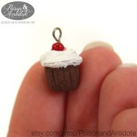 Chocolate Cherry Cupcake Charm by chat-noir