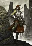 woman fighter by ayria1