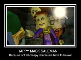 happy mask salesman by laicka03