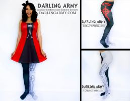 Fullmetal Alchemist Automail Cosplay Tights by DarlingArmy
