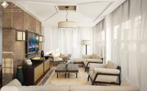 D villa ground floor living - first draft by kasrawy