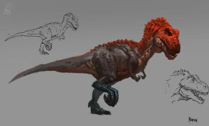 Animal study - Tyrannosaur by Raph04art