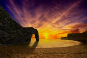 Sunset at Durdle Door by 06footnerc