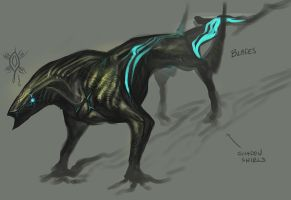 Blue Blooded Shadow Beast by Exileden