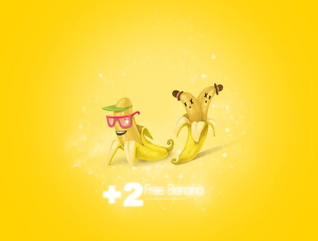 Banana wallpaper by Cysiunio