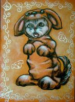 Chinese Zodiac Kitty - DOG by BlackAngel-Diana
