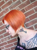Neck Tattoo by Ariane-Saint-Amour