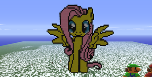 Minecraft- Fluttershy by aprilgoddess