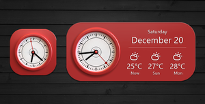 Graceful Clock and Widget for xwidget by jimking