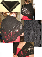 Black Crochet Shawl by HaleyGeorge
