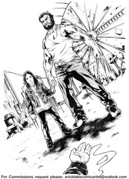 Logan and X-23 Commission by E-Blake