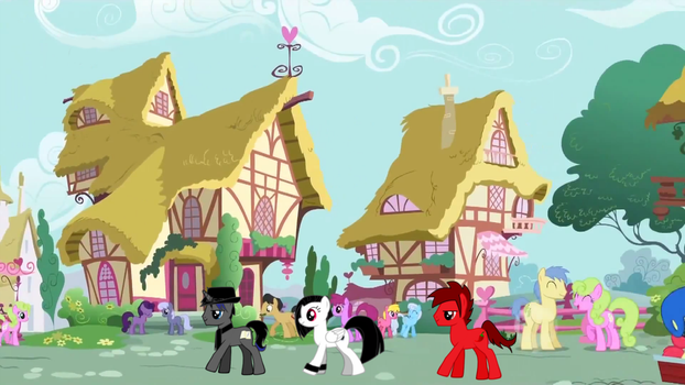 Regular Day in Ponyville with Epic Fable and posse by ZMasterskull