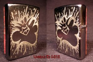 Plasma Slug Zippo by Undead Ed Glows in The Dark 3 by Undead-Art