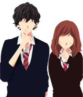 Minimalist: Kou And Futaba by MayYume