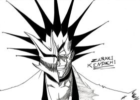 Zaraki Kenpachi - Hollow mask by elyo11
