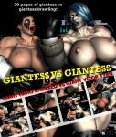 Giantess VS Giantess - Front Cover by Realms-And-Void