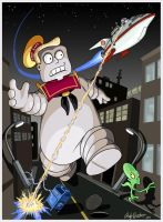 Futurama-Ghostbusters by andyjhunter