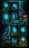 Elven Forest 2 backgrounds by moonchild-ljilja