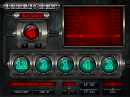 Submarine Poker numbers UI by matissko