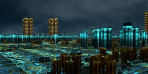 Modern city by kronpano