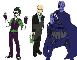 DC Archvillains by DAHalfblood