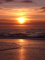 North Sea Sunset III by Fahlyn