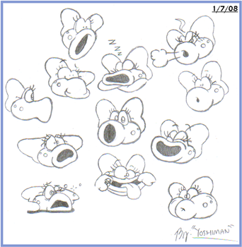 Random Birdo faces by YoshiMan1118