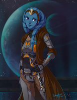 SWTOR: Twi'lek night by FallingMist