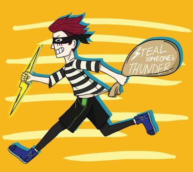 idioms pt.4 - Steal someone's thunder by Turquoise-luck