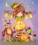 2014 Halloween Cutie Pie - colors by WildAddict
