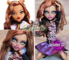 MH 17inch Clawdeen repaint #1 ~Rafaeli~ by RogueLively