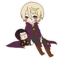 Alois and chibi Claude by rozenpandachan