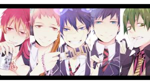 Ao no Exorcist theme google chrome by FlippyDismmemberment