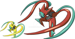 386 - Deoxys (Attack Forme) by Tails19950