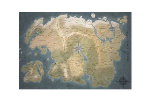 Map of Tamriel NO BORDERS by DwarfChieftain