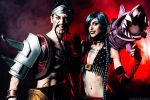 Draven and Jinx - League of Legends Cosplay Art by LeonChiroCosplayArt