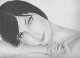 female portrait .:2:. by tuer-las-gnome