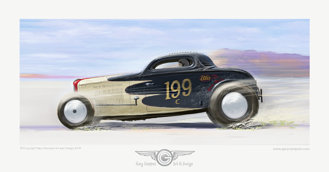 Rolling Bones Hot Rods Ellis Coupe by GaryCampesi