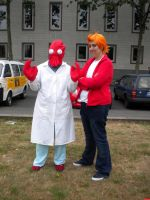 Fry and Dr. Zoidberg by Eric--Cartman