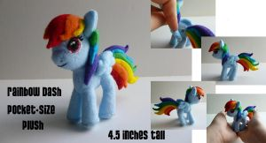 Rainbow Dash Pocket-size Plush by Hyper-piston