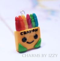 Kawaii crayon box charm necklace by CharmsByIzzy