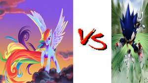 *Request* Sonic VS Rainbow Dash by DeRpYhOoVvEs