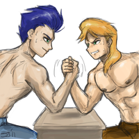 Human Soarin vs Braeburn by johnjoseco