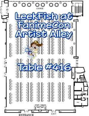 Come visit me at FanimeCon Artist Alley Table 416! by LeekFish