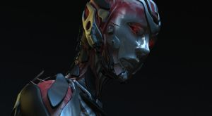 Cylon woman close up concept by zeustoves