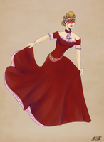 The Baron's Daughter at the Masquerade Ball by Comical1