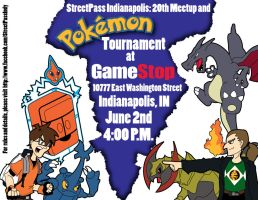 StreetPass Indianapolis PKMN tourney flyer by JacobLionheart
